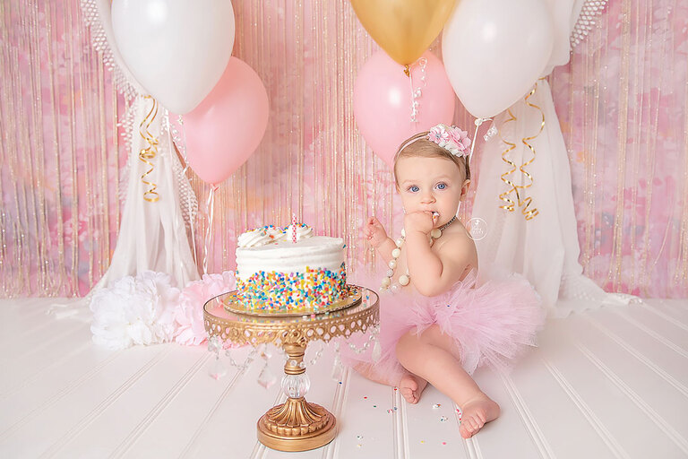 First Birthday Smash Cake Photographer Austin Texas