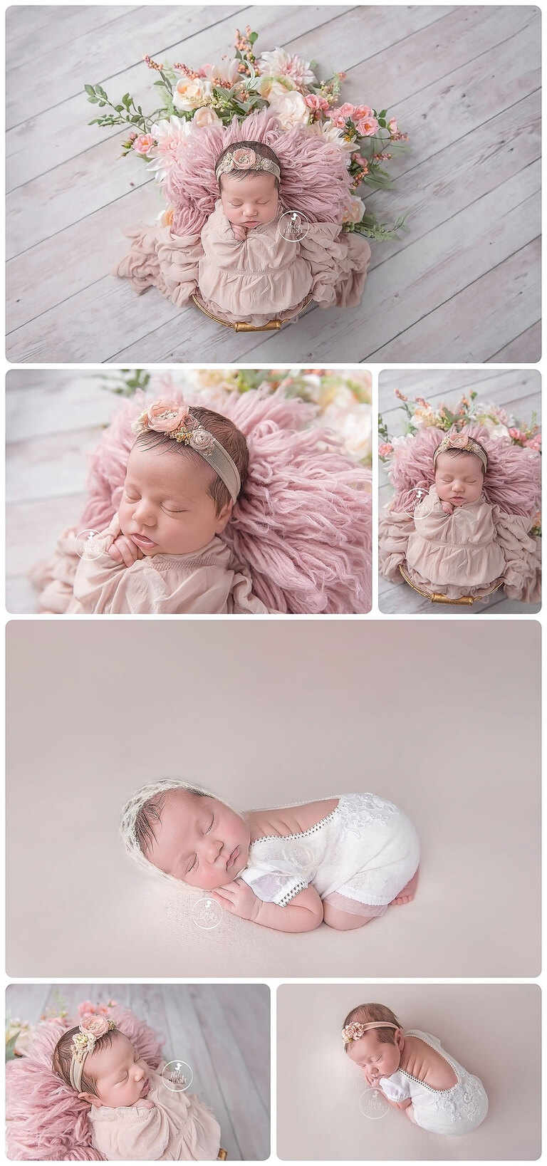 Austin Newborn Baby Photographer Haley offers affordable studio photo sessions that include high resolution digital files and a print release props included