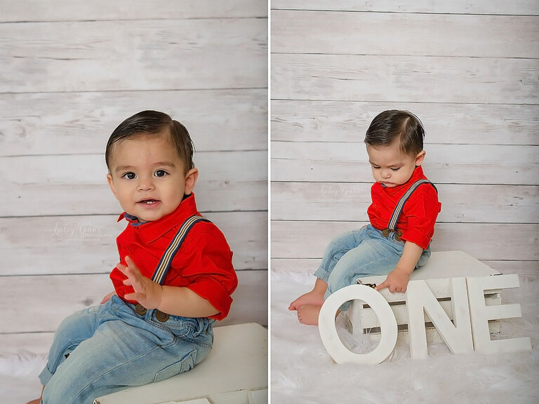 First birthday baby photography session austin texas
