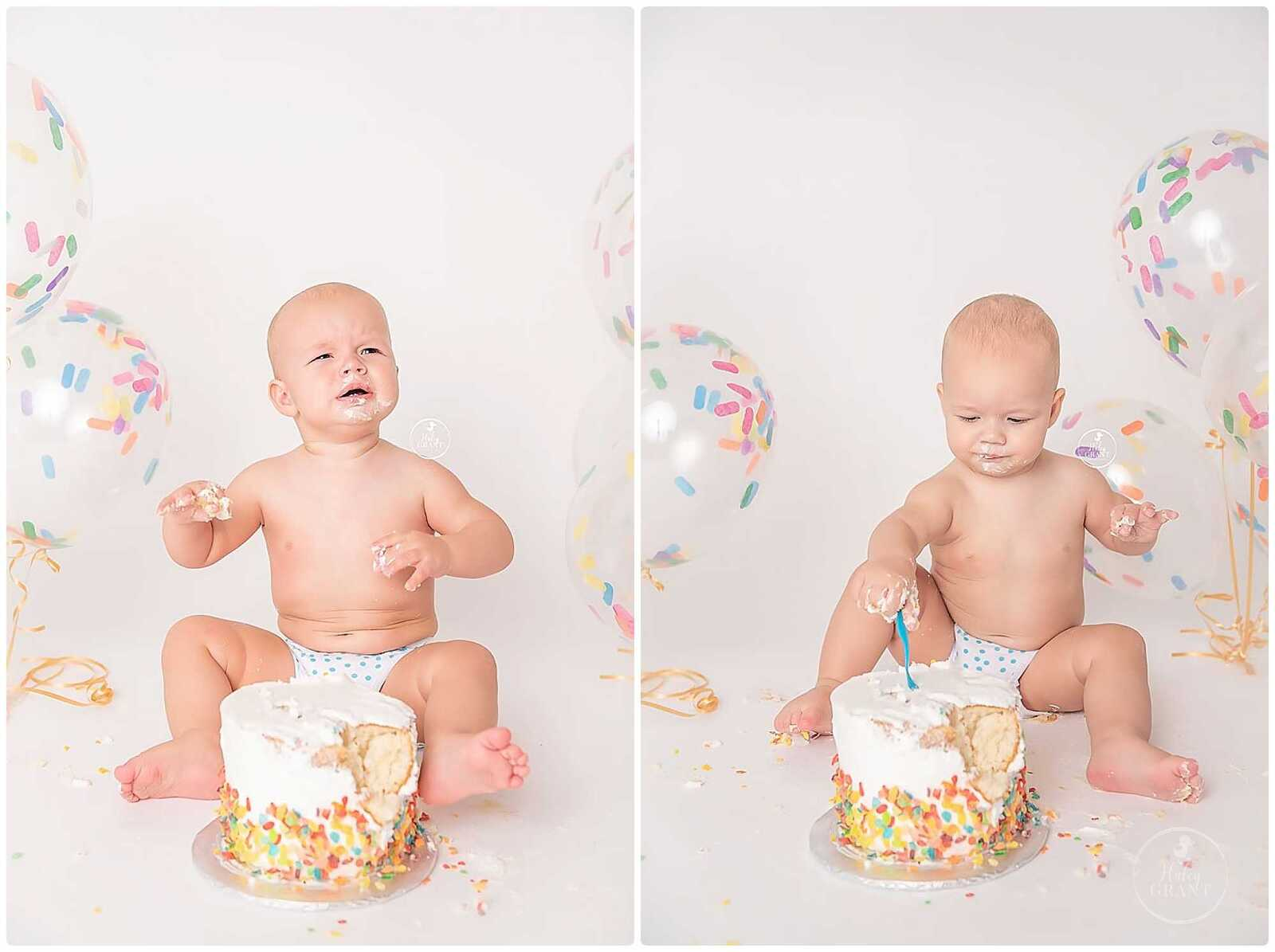 First Birthday Smash Cake Photographers Austin