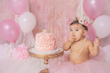 First Birthday Cake Smash Photography Austin Texas